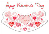 Счастливый день Валентина баннер — Cтоковый вектор
