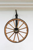 Antique wooden wheel — Stock Photo