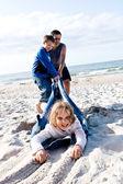 Diversión en la playa — Foto de Stock