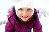 Healthy winter child — Stock Photo
