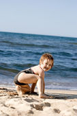 Girl at the beach — Stock Photo