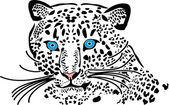 Leopard — Vector de stock