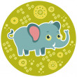 African cartoon animal vector character. Elephant. — Stock Vector #38088869