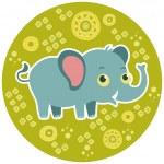 African cartoon animal vector character. Elephant. — Stock Vector #38088869