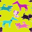 Cute dogs vector seamless pattern. — Stock Vector #38089711