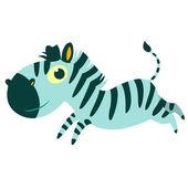 Afrikanska seriefiguren djur isolerade vektor. Zebra. — Stockvektor