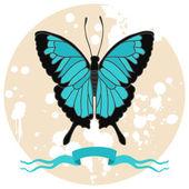 Butterfly vector illustration. — Stock Vector
