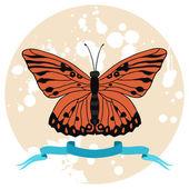 Illustration vectorielle de papillon. — Vecteur