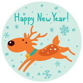 Christmas,New Year character illustration. — Stock Vector