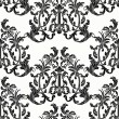 Stock Vector: Baroque style floral seamless vector pattern.