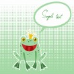 Cute frog vector card. — Stock Vector