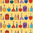 Alchemy laboratory equipment vector seamless pattern. — Stock Vector #38090807
