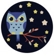 Stock Vector: Cute owl vector illustration.