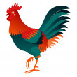 Cock isolated vector illustration. — Stock Vector #38092271