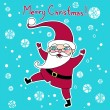 Cute santa vector greeting card. — Stock Vector #38093435
