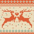 Vector seamless knitted pattern with deer. — Stock vektor