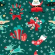 Christmas symbols vector seamless pattern. — Stock Vector