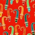 Cute Christmas elves vector seamless pattern. — Stock Vector