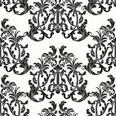 Baroque style floral seamless vector pattern. — Stock Vector