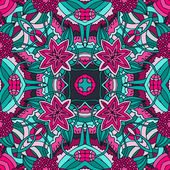 Kaleidoscope style seamless vector pattern. — Stock Vector