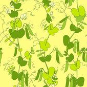 Green peas vector seamless pattern. — Stock Vector