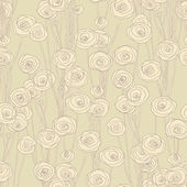 Roses vector seamless pattern. — Stock Vector
