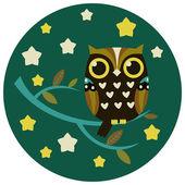 Cute owl vector illustration. — Stock Vector