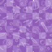 Vegetables vector seamless pattern. — Vecteur