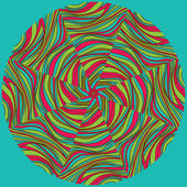 Abstract geometric round vector pattern. — Vetorial Stock