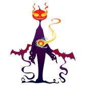 Halloween pumpkin monster — Stock Vector