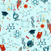 Science stuff vector seamless pattern. — Stock Vector