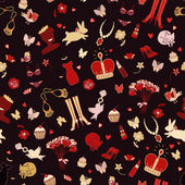 Fashion stuff vector seamless pattern. — 图库矢量图片