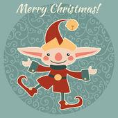 Christmas,New Year character illustration. — 图库矢量图片