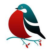 Bullfinch vector illustration. — Stock Vector