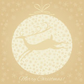 Christmas,New Year vector greetings card. — Stock Vector