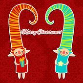 рождество, новый год символов иллюстрация. — Cтоковый вектор