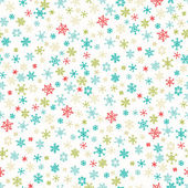 Snowflakes seamless vector pattern. — Stock Vector