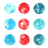 Watercolor-style spot vector seamless background. — Vetorial Stock