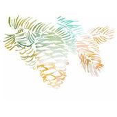 Watercolor-style pine cone vector illustration. — Stock Vector