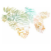 Watercolor-style pine cone vector illustration. — Stock Vector