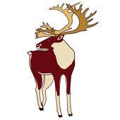 Illustration of deer isolated on white. — Stock Vector