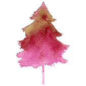 Watercolor-style vector illustration of Christmas,New Year Tree. — Stock Vector