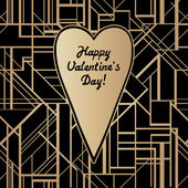 St. Valentine's Day themed art deco style vector geometric pattern. — Vecteur