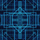 Art deco style vector geometric pattern. — ストックベクタ