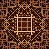 Art deco styl vektor geometrický vzor. — Stock vektor