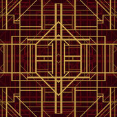 Art deco style vector geometric pattern. — Vettoriale Stock
