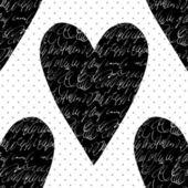 Patrón sin costuras vector con corazones. — Vector de stock
