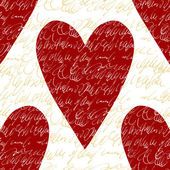 Padrão sem emenda de vetor com corações. — Vetorial Stock