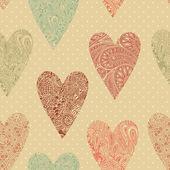 Vektor seamless mönster med hjärtan. — Stockvektor