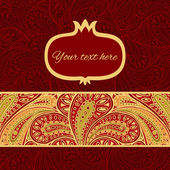 Vector greetings card with paisley-style decoration — Vettoriale Stock